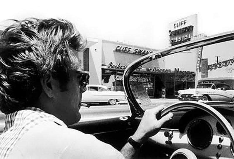 James Dean Washing His Porsche Speedster At Sherman Oaks Photo C Seita Ohnishi Sanford Roth
